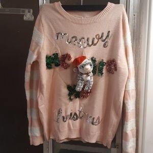 """""""Meowy Christmas"""" Ugly Christmas Sweater"""